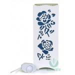 Rechaud Elétrico Aromatizador e Luminária Flor Rosa Azul