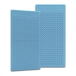 Placa Grande p/ Ponto Auricular - ZhenMed - Azul