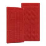 Placa Grande p/ Ponto Auricular - ZhenMed - Vermelho