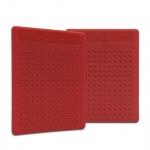 Placa Pequena p/ Ponto Auricular - ZhenMed - Vermelho