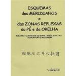 Esquemas dos Meridianos e das Zonas Reflexas do Pé e da Orelha