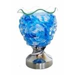Rechaud Elétrico Aromatizador e Luminária Taça Redonda Azul