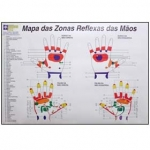 Mapa Zonas Reflexas das Mãos